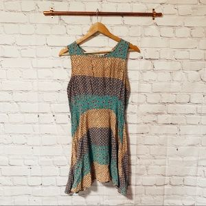 Free People colorful A-Line dress